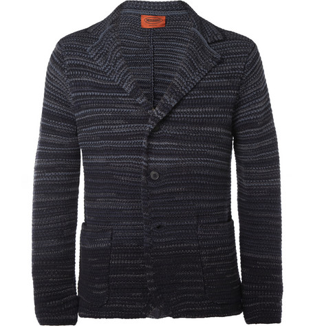 Missoni Striped Knitted Wool-Blend Blazer