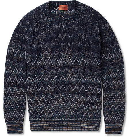 Missoni Patterned-Knit Wool-Blend Sweater