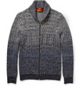 Missoni Patterned-Knit Wool And Camel-Blend Zipped Cardigan