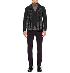Missoni Slim-Fit Knitted Wool-Blend Blazer