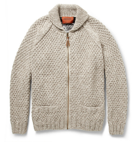 Missoni Patterned Chunky-Knit Wool Zipped Cardigan