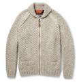 Missoni - Patterned Chunky-Knit Wool Zipped Cardigan
