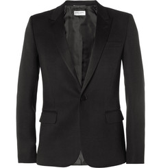 Saint Laurent Slim-Fit Wool Tuxedo Blazer