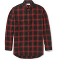 Saint Laurent - Plaid Cotton-Blend Flannel Shirt