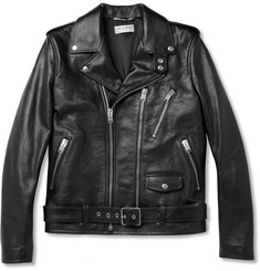 Saint Laurent Slim-Fit Leather Biker Jacket