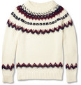 Saint Laurent - Metal-Studded Fair Isle Knitted Sweater