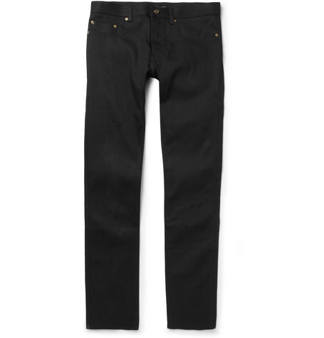 Saint Laurent Slim-Fit 17.5cm Hem Denim Jeans