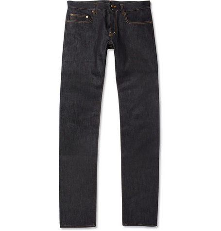 Saint Laurent Slim-Fit 17.5cm Hem Dry Denim Jeans