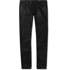 Saint Laurent Slim-Fit 15.5cm Hem Coated-Denim Jeans