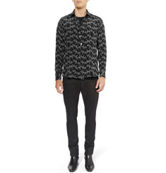 Saint Laurent Rat-Print Silk Shirt