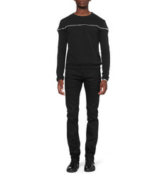 Saint Laurent Zipped Cotton-Jersey Sweatshirt