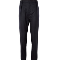Lanvin Pleated Tapered Wool Trousers
