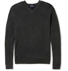 Lanvin Merino Wool V-Neck Sweater