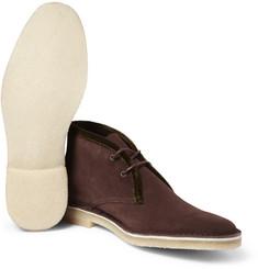 Pierre HardyVelvet-Trimmed Suede Desert Boots