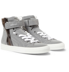Pierre Hardy Reflective High Top Sneakers