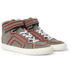 Pierre Hardy Suede and Leather High Top Sneakers