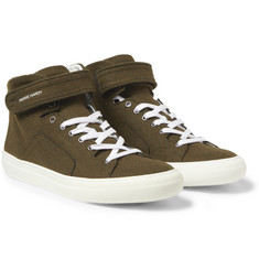 Pierre Hardy Felt High Top Sneakers