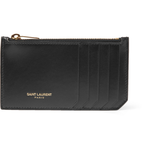 Saint Laurent Leather Card Holder Wallet