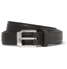 Saint Laurent Black 2cm Slim Leather Belt