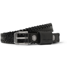 Saint Laurent Woven-Leather Belt