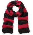 Saint Laurent - Striped Open-Knit Mohair-Blend Scarf