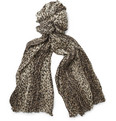 Saint Laurent - Baby Cat-Print Cashmere and Silk Scarf