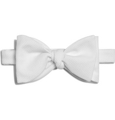 Turnbull & Asser Cotton-Piqué Bow Tie