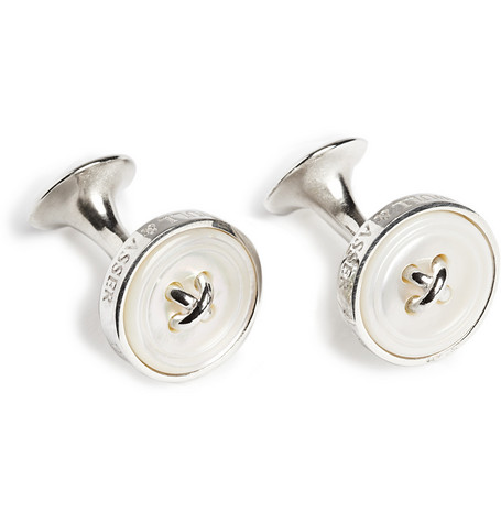 button-silver-mother-of-pearl-cufflinks by turnbull-&-asser