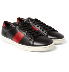 Saint Laurent SL02 Striped Leather Sneakers