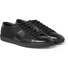 Saint Laurent SL03 Leather and Canvas Sneakers