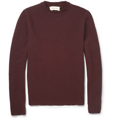 Marni Double-Collar Wool and Cashmere-Blend Sweater