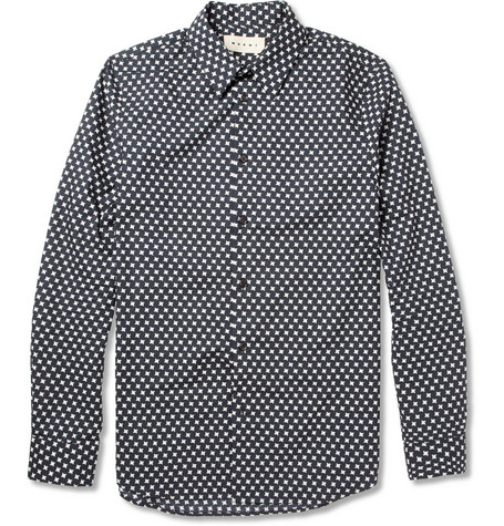 Marni Houndstooth-Print Cotton Shirt