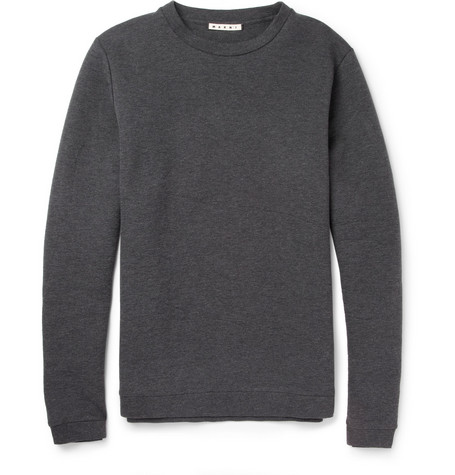 Marni Bonded Cotton-Blend Jersey Sweatshirt