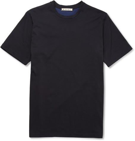 Marni Contrast-Back Cotton-Jersey T-Shirt