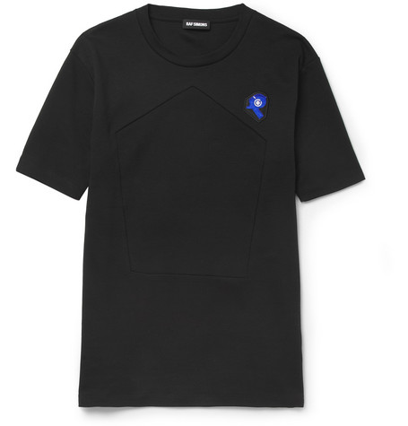 Raf Simons Panelled Cotton-Jersey T-Shirt