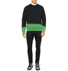 Raf Simons Ombre Fleece-Back Cotton-Jersey Sweatshirt