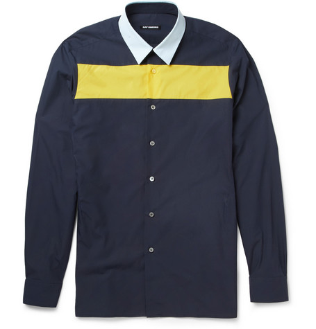 Raf Simons Panelled Cotton Shirt
