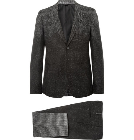 Raf Simons Grey Slim-FIt Degradé Check Wool-Blend Suit