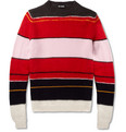Raf Simons - Striped Knitted Crew Neck Sweater