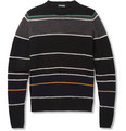 Raf Simons Striped Knitted Crew Neck Sweater