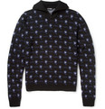 Raf Simons - Patterned Zip-Collar Merino Wool Sweater