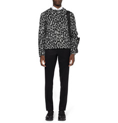 Raf Simons Leopard-Patterned Alpaca and Wool-Blend Sweater