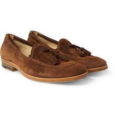 Armando Cabral Valentim Brushed-Suede Tasselled Loafers