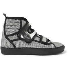 Raf Simons Woven Check High Top Sneakers