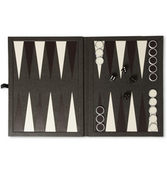 Dunhill Bourdon Leather-Bound Backgammon Set