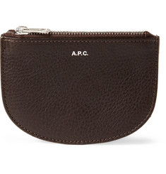 A.P.C. Full Grain Leather Zipped Wallet