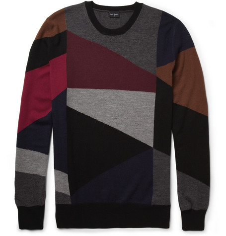 PS by Paul Smith Patterned Merino Wool Sweater