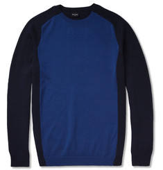 PS by Paul Smith Contrast-Front Merino Wool Sweater
