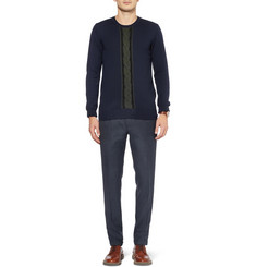 PS by Paul Smith Cable-Front Merino Wool Sweater
