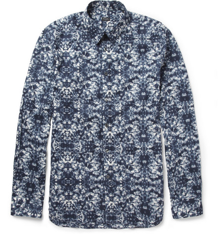 PS by Paul Smith Slim-Fit Floral-Print Cotton Shirt